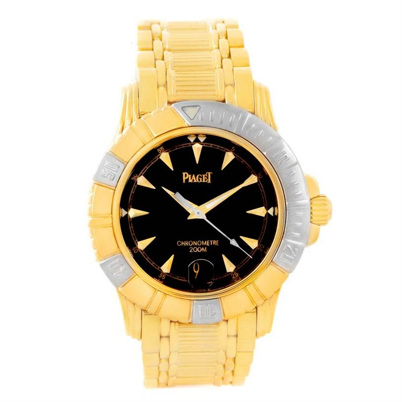 6141 Piaget Polo Key Dive 18K Yellow and White Gold Mens Watch 25020 SwissWatchExpo