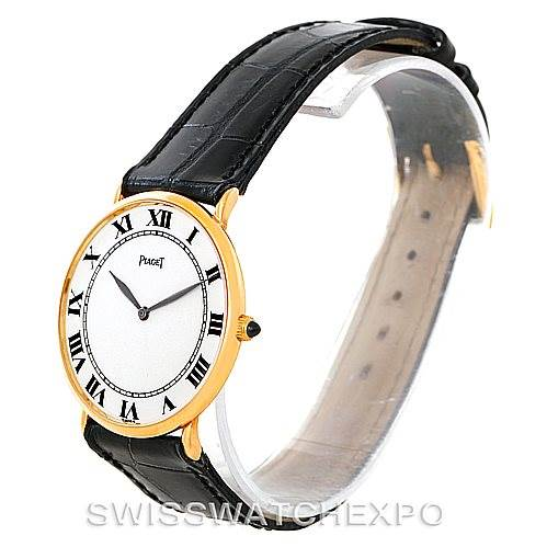 7705 Piaget 18K Yellow Gold Mechanical Mens Watch 9035 SwissWatchExpo