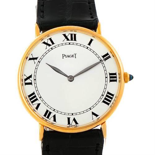 Photo of Piaget 18K Yellow Gold Mechanical Mens Watch 9035