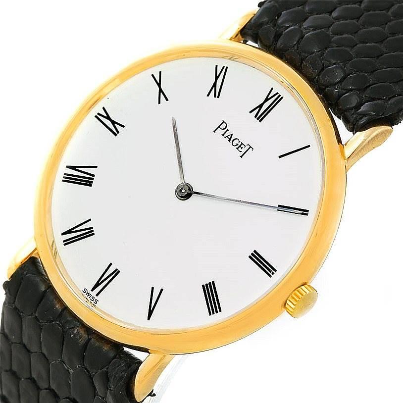 Piaget 18K Yellow Gold Mechanical Mens Watch 9025 SwissWatchExpo
