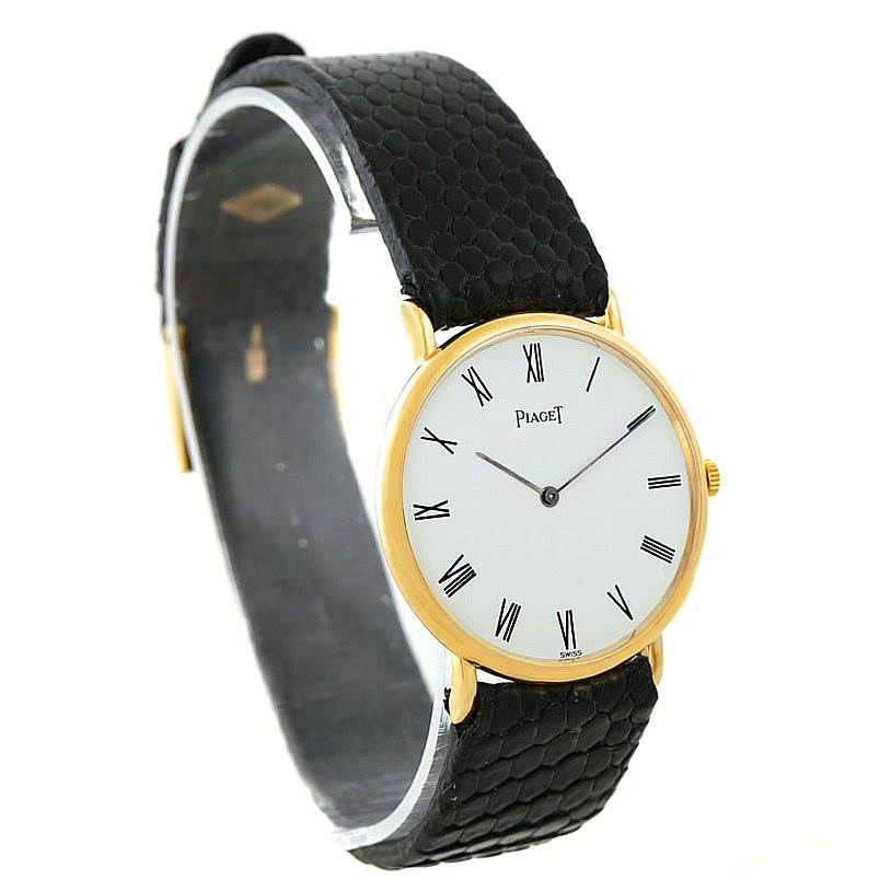 7938 Piaget 18K Yellow Gold Mechanical Mens Watch 9025 SwissWatchExpo