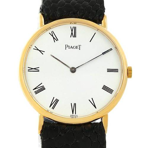 Photo of Piaget 18K Yellow Gold Mechanical Mens Watch 9025