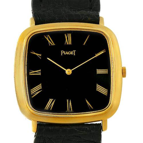Photo of Piaget 18K Yellow Gold Cushion Shape Mechanical Mens Watch