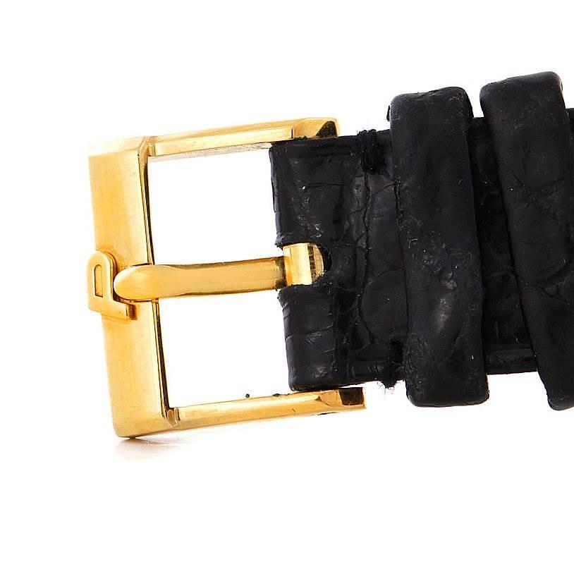 Piaget 18K Yellow Gold Cushion Shape Mens Watch 9154 SwissWatchExpo