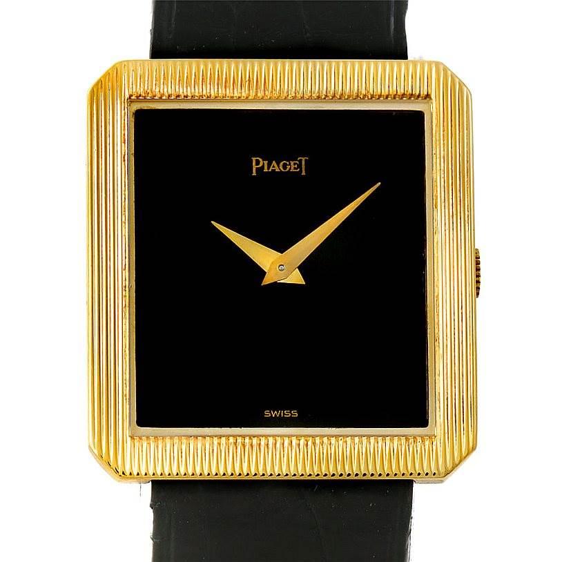Photo of Piaget 18K Yellow Gold Cushion Shape Mens Watch 9154
