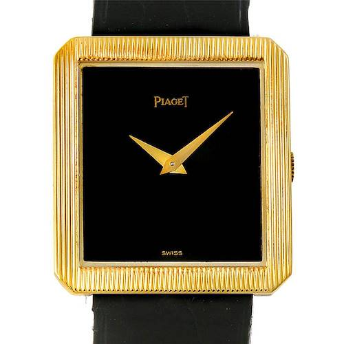 Photo of Piaget 18K Yellow Gold Cushion Shape Mens Watch 9154