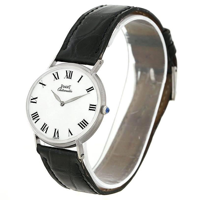 Piaget 18K White Gold Automatic Mens Watch 12501 SwissWatchExpo