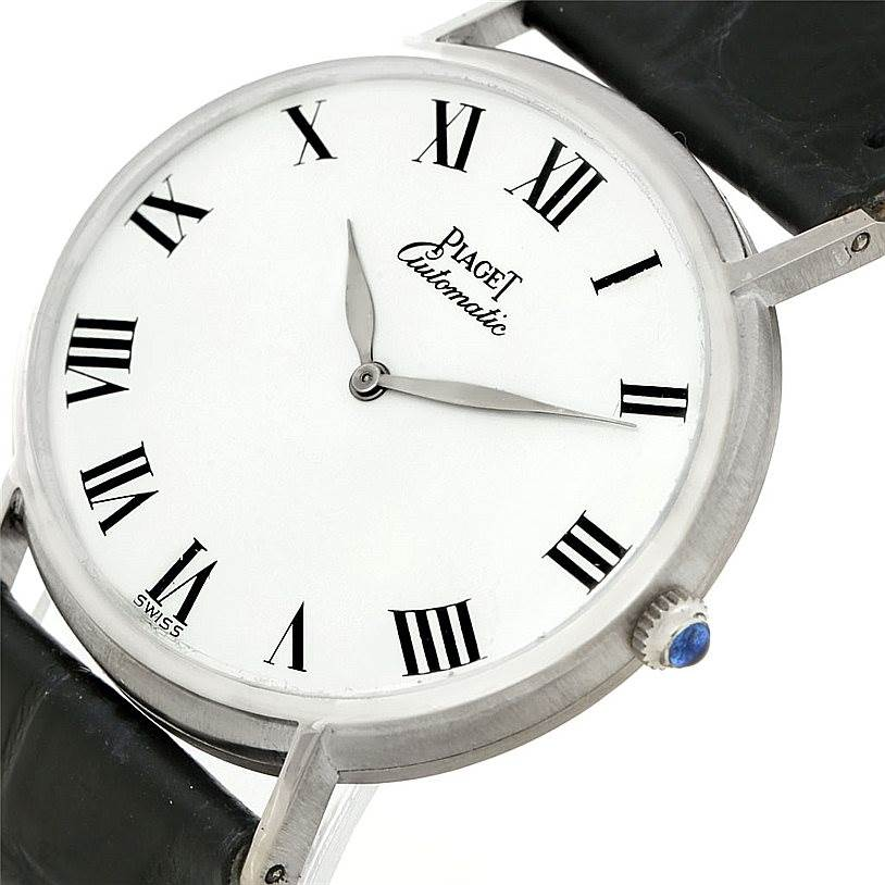 7984 Piaget 18K White Gold Automatic Mens Watch 12501 SwissWatchExpo