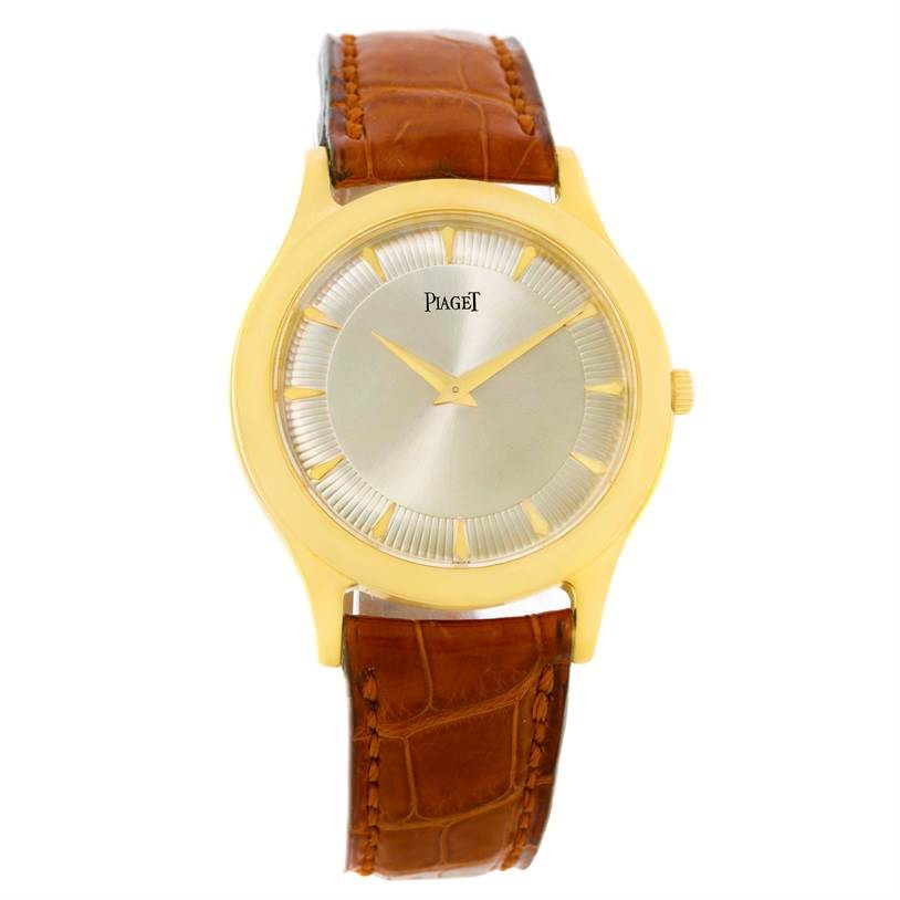 9227 Piaget 18K Yellow Gold Mechanical Limited Edition Mens Watch 91000 SwissWatchExpo