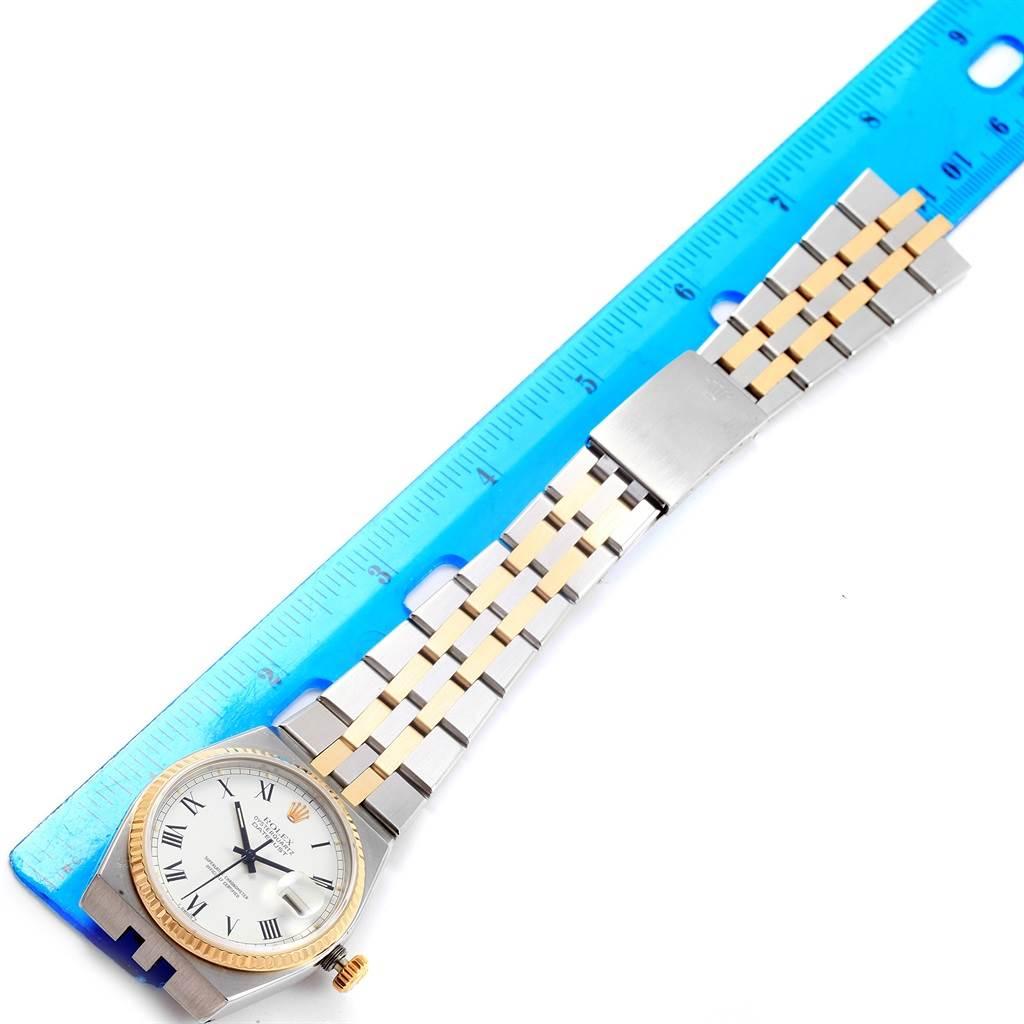 Rolex Oysterquartz Datejust Steel Yellow Gold Buckley Dial Watch 17013 SwissWatchExpo