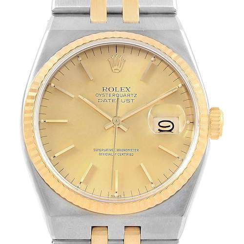 Photo of Rolex Oysterquartz Datejust 36 Steel Yellow Gold Mens Watch 17013