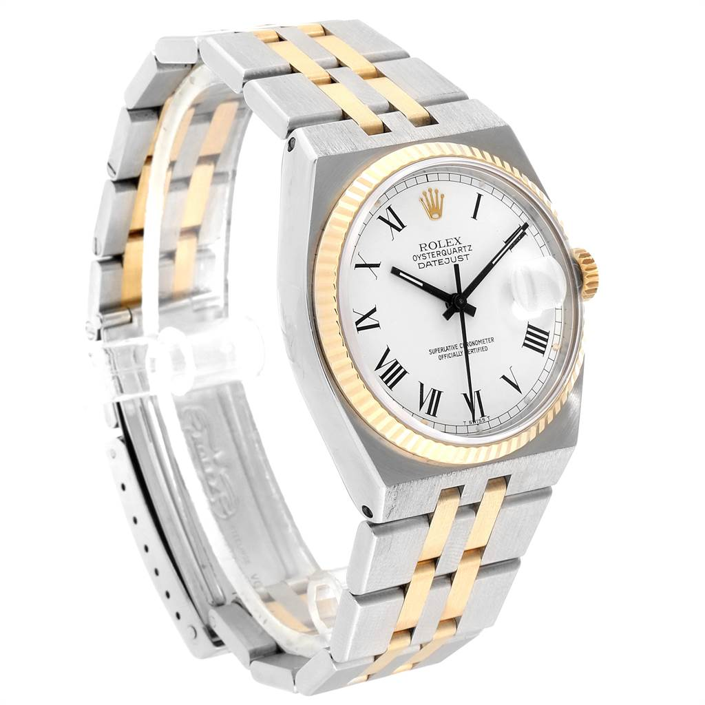 23231 Rolex Oysterquartz Datejust Steel Yellow Gold Buckley Dial Watch 17013 SwissWatchExpo