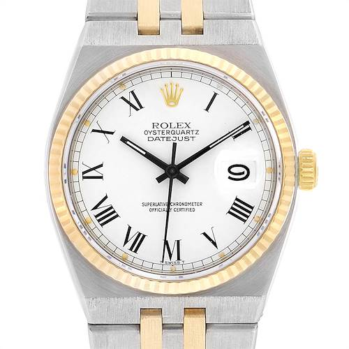 Photo of Rolex Oysterquartz Datejust Steel Yellow Gold Buckley Dial Watch 17013