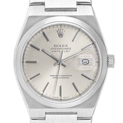 Photo of Rolex Oysterquartz Datejust Silver Dial Steel Mens Watch 17000