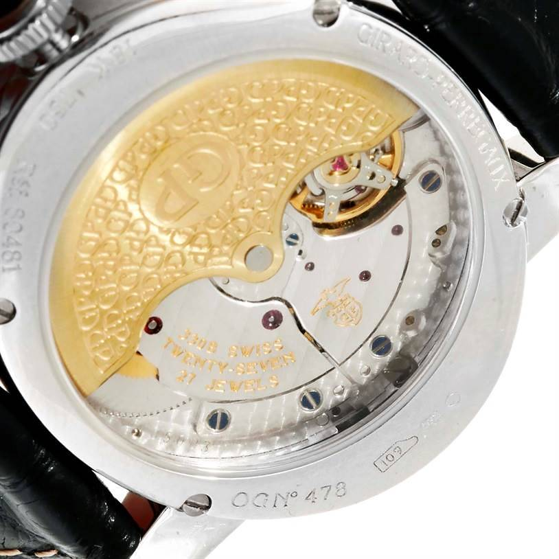 Girard Perregaux Cat's Eye 18K White Gold Diamond Watch 80481 SwissWatchExpo