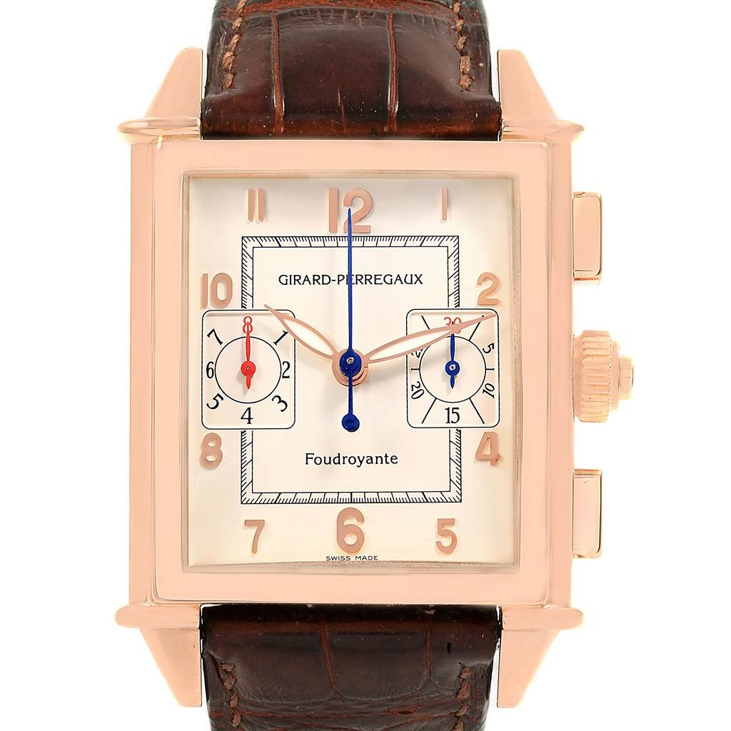 Photo of Girard Perregaux 1945 Rose Gold Split Second Chrono Watch 9021
