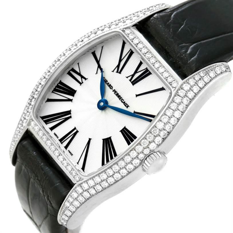 Girard Perregaux Tortue Stainless Steel Diamond Ladies Watch 2656 SwissWatchExpo