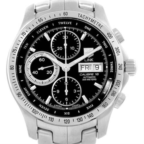 Photo of TAG Heuer Link Steel Black Dial Automatic Mens Watch CJF211A.BA0594