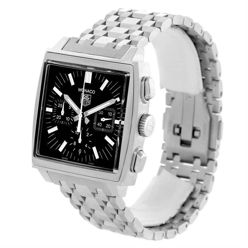 Tag Heuer Monaco Automatic Mens Watch CW2111.BA0780 Unworn SwissWatchExpo