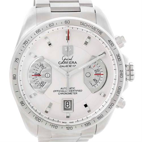 Photo of Tag Heuer Grand Carrera White Dial Automatic Mens Watch CAV511B