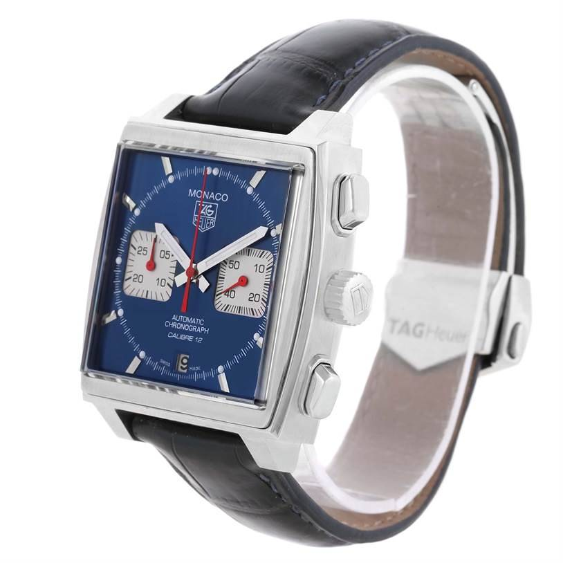 Tag Heuer Monaco Automatic Chronograph Mens Watch CAW2111 Box Papers SwissWatchExpo