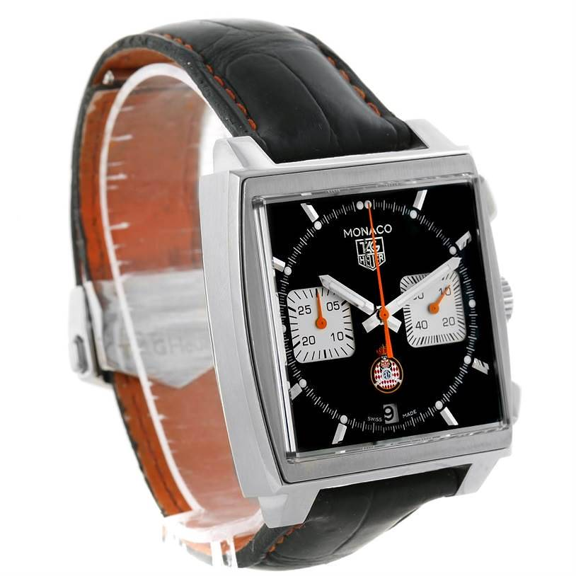 Tag Heuer Monaco Calibre 12 ACM Limited Edition Watch CAW211K Box Papers SwissWatchExpo