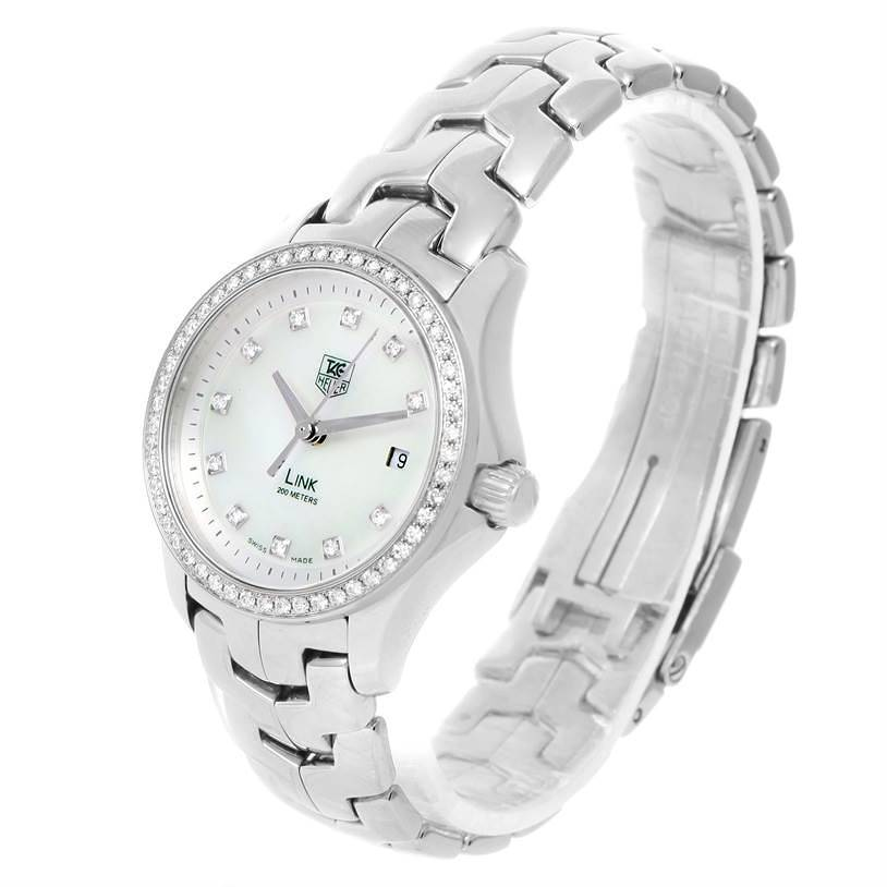 TAG Heuer Link Mother of Pearl Diamond Ladies Watch WJF1319.BA0572 SwissWatchExpo