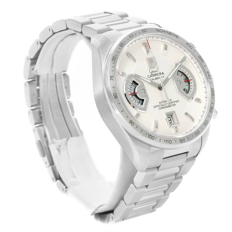 Tag Heuer Grand Carrera White Dial Automatic Mens Watch CAV511B SwissWatchExpo