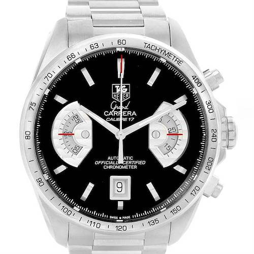 Photo of Tag Heuer Grand Carrera Black Dial Automatic Mens Watch CAV511A