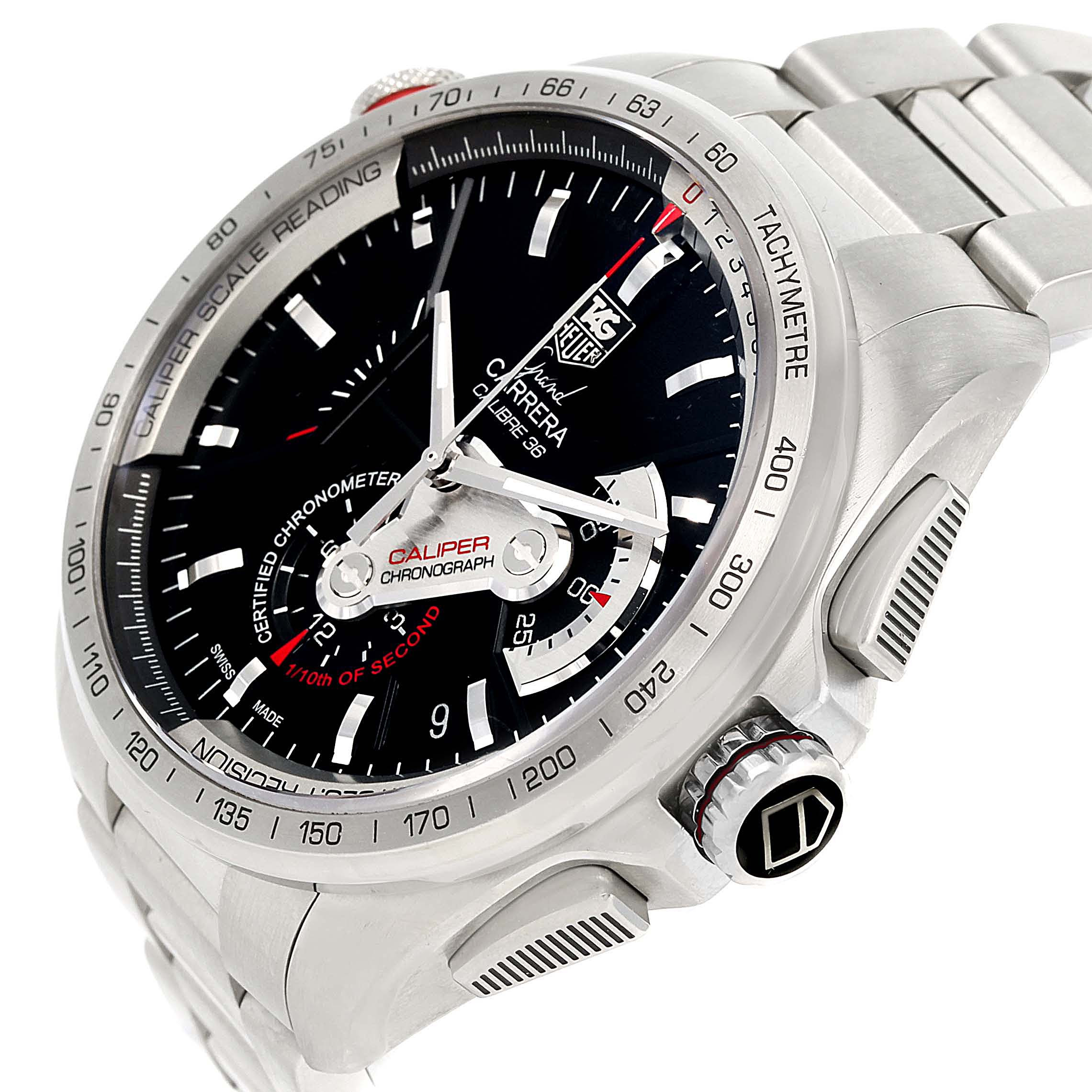 Tag Heuer Grand Carrera Calibre 36 RS Automatic Mens Watch CAV5115 SwissWatchExpo