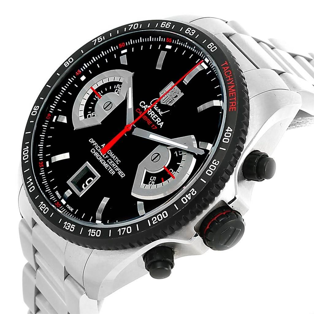 13401 Tag Heuer Grand Carrera Black Dial Automatic Mens Watch CAV511C SwissWatchExpo