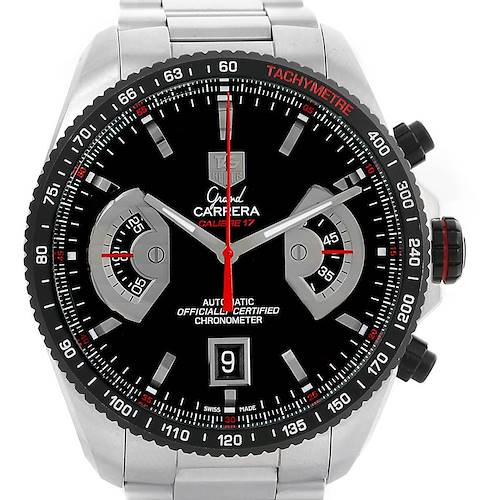 Photo of Tag Heuer Grand Carrera Black Dial Automatic Mens Watch CAV511C