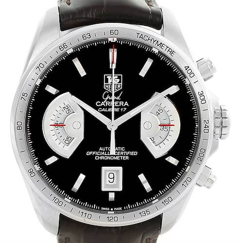 Photo of Tag Heuer Grand Carrera Brown Leather Strap Mens Watch CAV511A