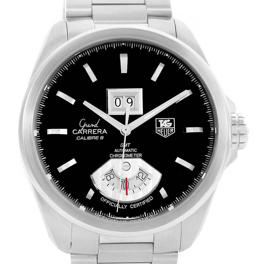 Tag Heuer Grand Carrera GMT Chrono Mens Watch WAV5111 Box Papers SwissWatchExpo