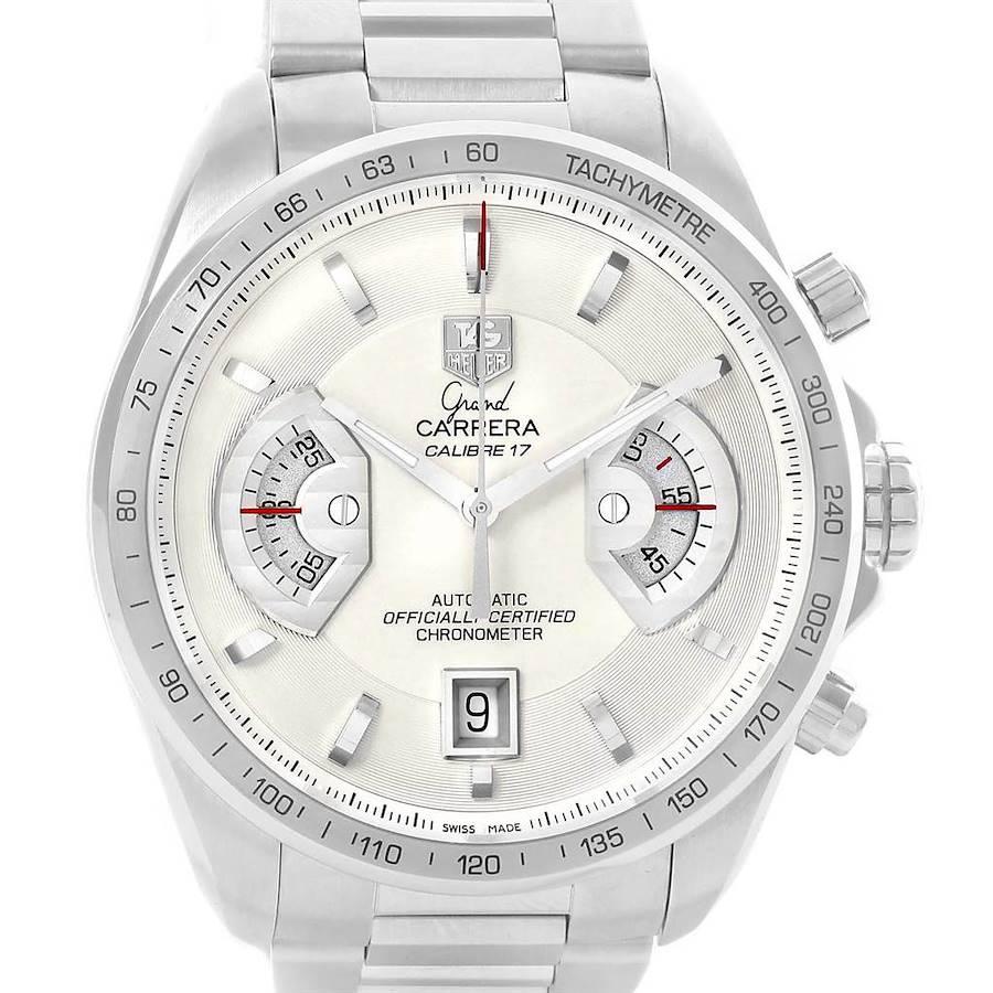 Tag Heuer Grand Carrera White Dial Mens Watch CAV511B Box Papers SwissWatchExpo