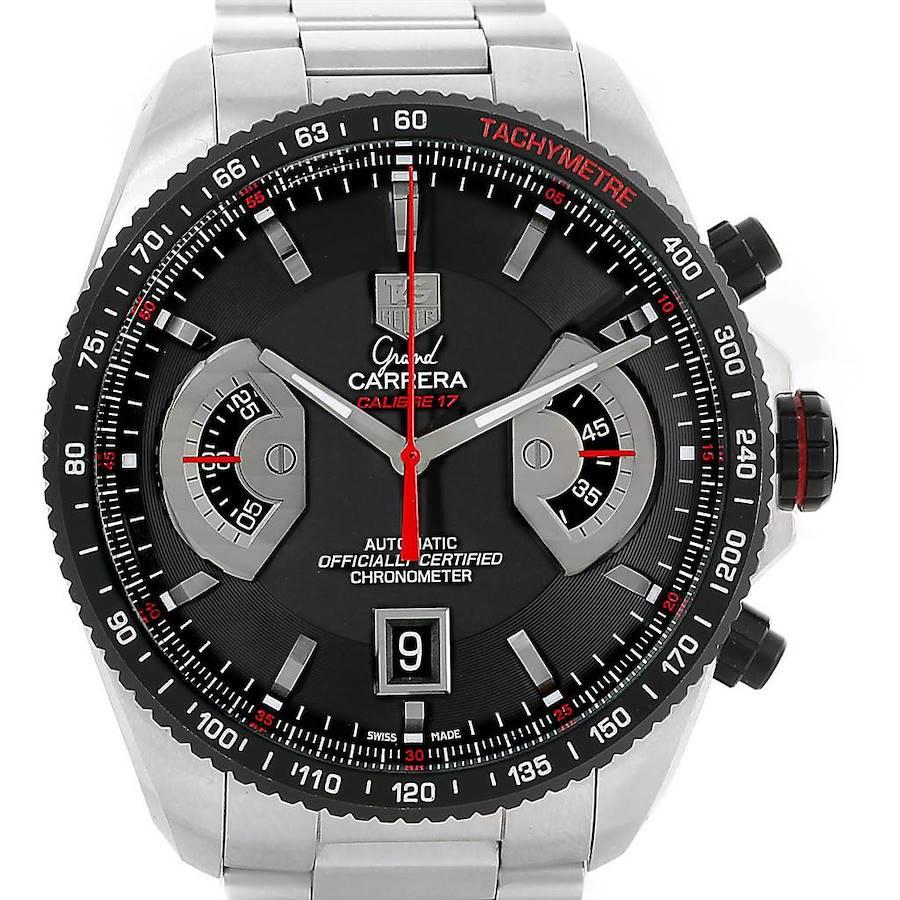 Tag Heuer Grand Carrera Black Dial Automatic Mens Watch CAV511C SwissWatchExpo