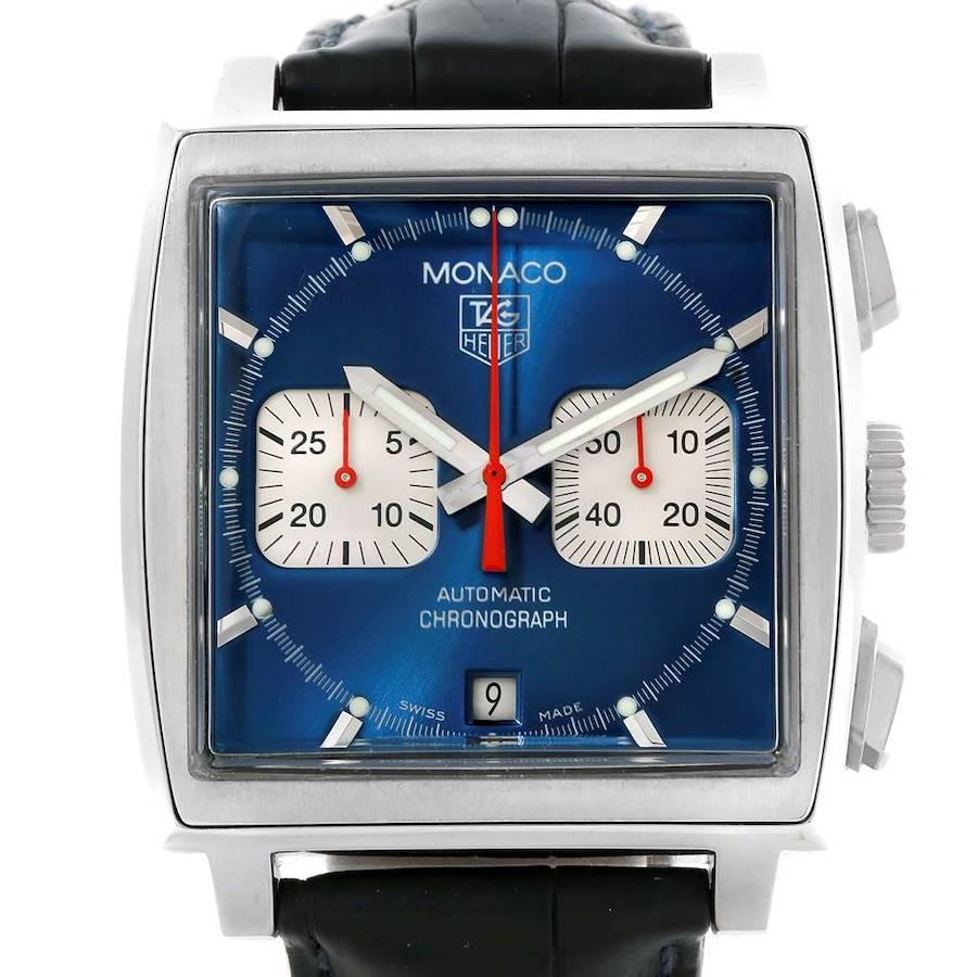 Tag Heuer Monaco Automatic Chronograph Blue Dial Mens Watch CW2113 SwissWatchExpo