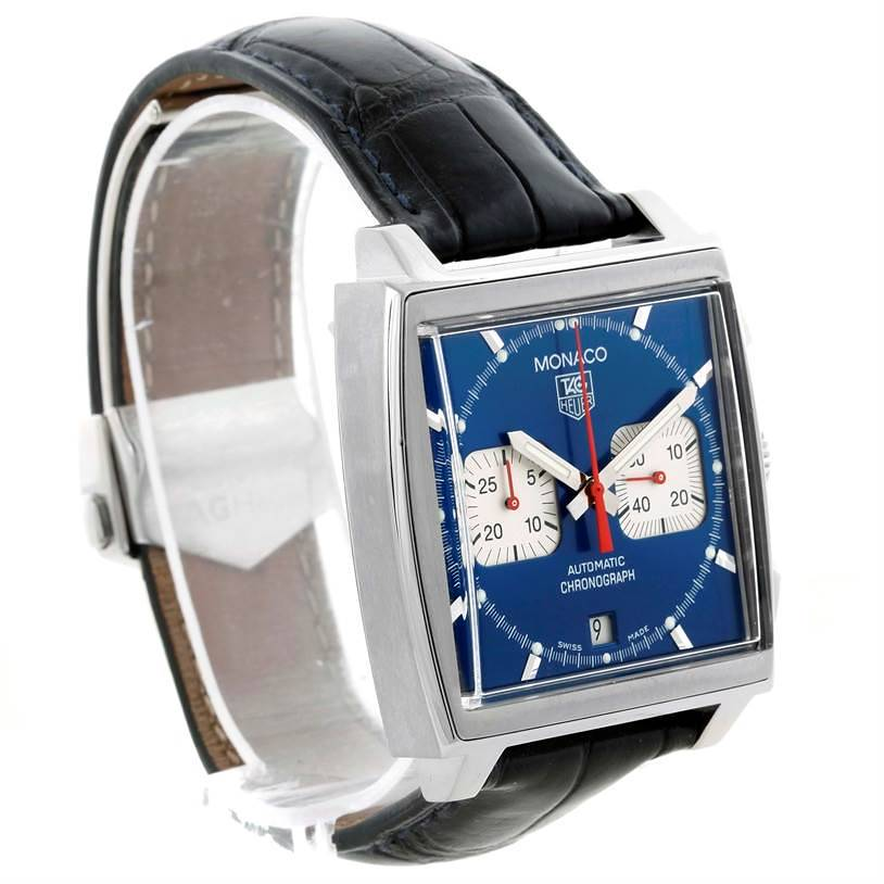 Tag Heuer Monaco Automatic Chronograph Mens Watch CW2113 Box Papers SwissWatchExpo