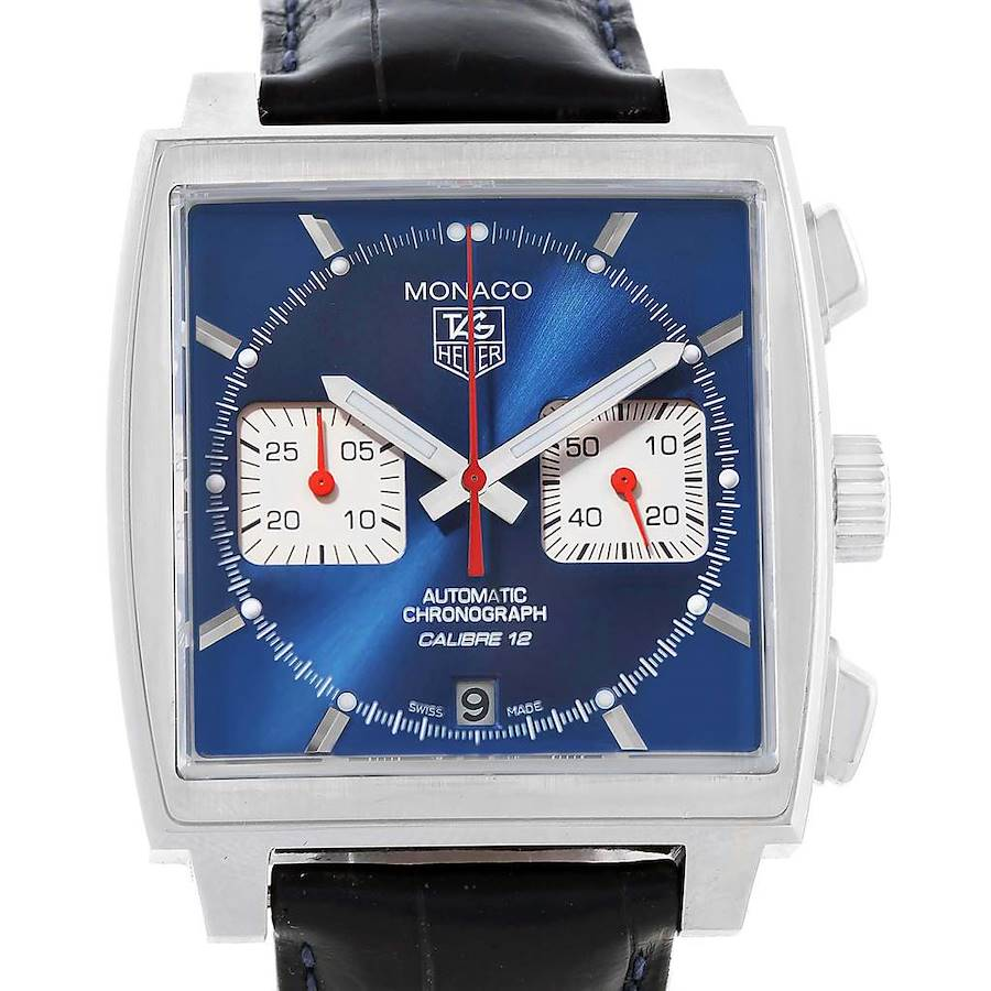 Tag Heuer Monaco Blue Dial Automatic Chronograph Mens Watch CAW2111 SwissWatchExpo