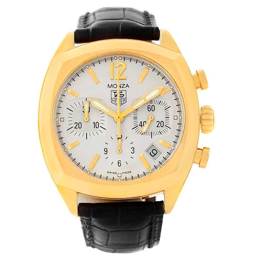 Tag Heuer Monza 18K Yellow Gold Chronograph Watch CR514A SwissWatchExpo