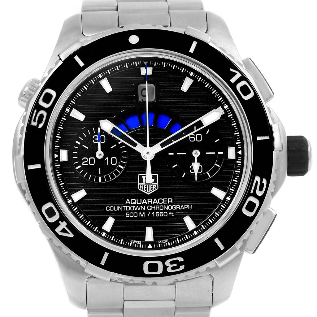 15516 Tag Heuer Aquaracer Black Dial Steel Mens Watch CAK211A SwissWatchExpo