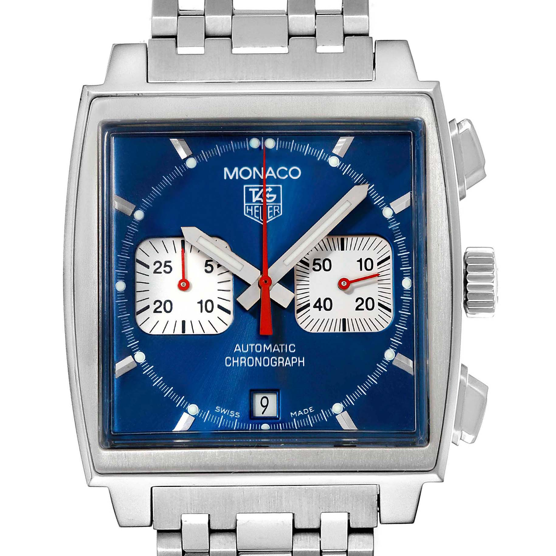Tag Heuer Monaco Automatic Chronograph Mens Watch CW2113 SwissWatchExpo