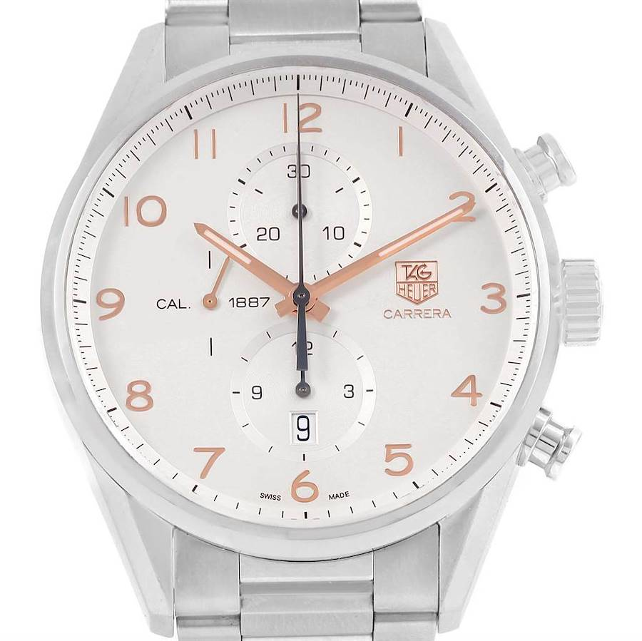 Tag Heuer Carrera Chronograph Silver Dial Mens Watch CAR2012 SwissWatchExpo