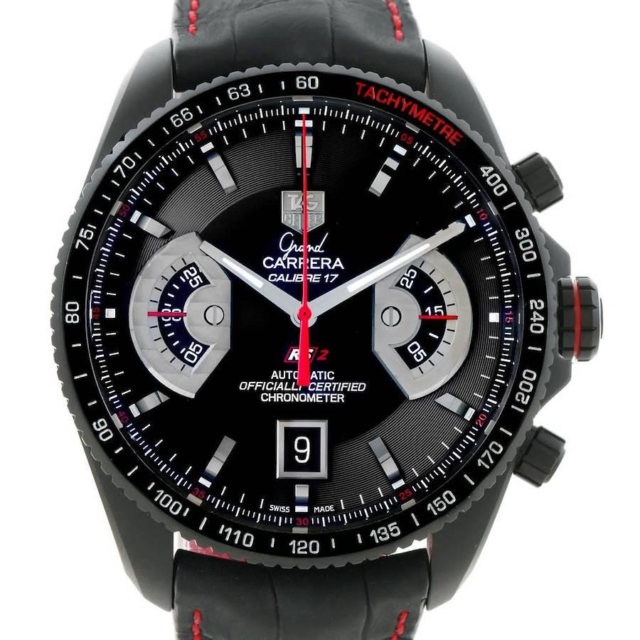 Tag Heuer Grand Carrera Black PVD Mens Watch CAV518B SwissWatchExpo