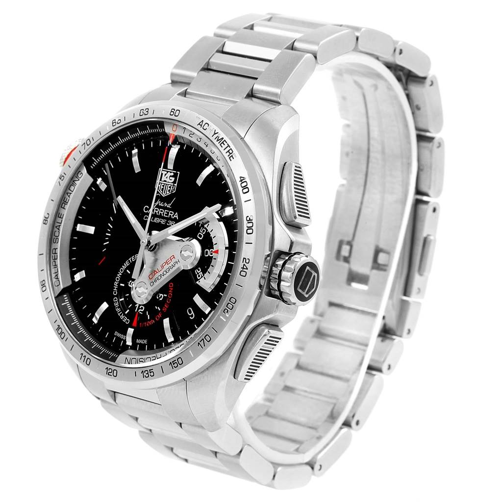 c6f7fc5303f03 ... 16185 Tag Heuer Grand Carrera Calibre 36 RS Automatic Mens Watch CAV5115  SwissWatchExpo ...