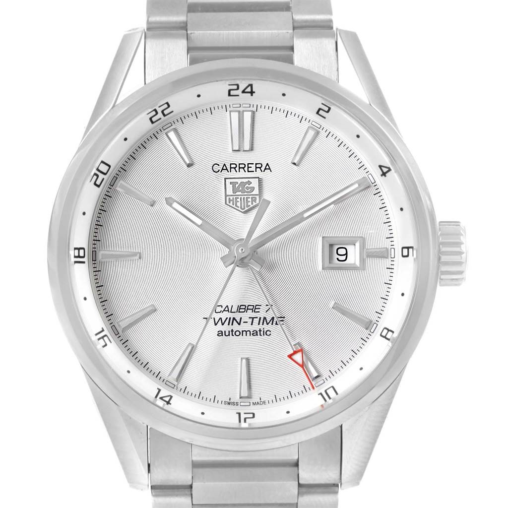 02b8b8a0d613 ... 16435 Tag Heuer Carrera Calibre 7 Twin Time 41mm Automatic Mens Watch  WAR2011 SwissWatchExpo ...