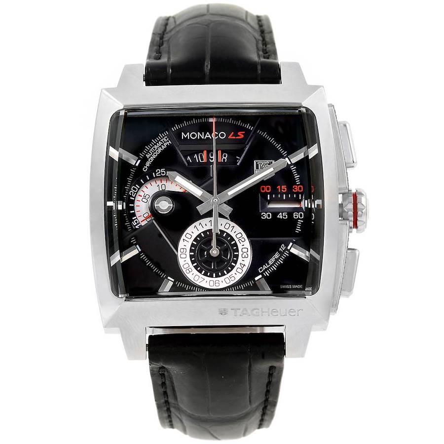 Tag Heuer Monaco Black Dial Automatic Chronograph Mens Watch CAL2110 SwissWatchExpo