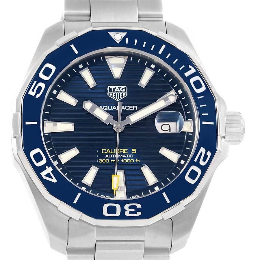 Tag Heuer Aquaracer Blue Dial Steel Mens Watch WAY201B SwissWatchExpo