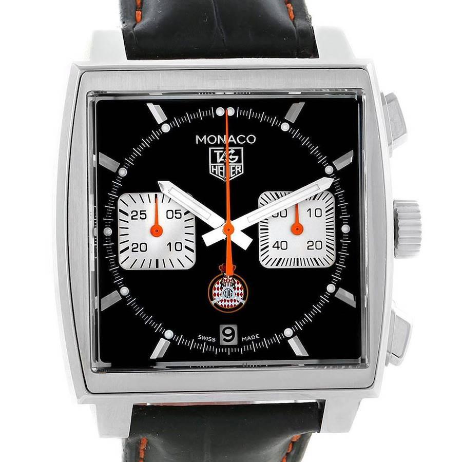 Tag Heuer Monaco Calibre 12 ACM Limited Edition Watch CAW211K Box Card SwissWatchExpo