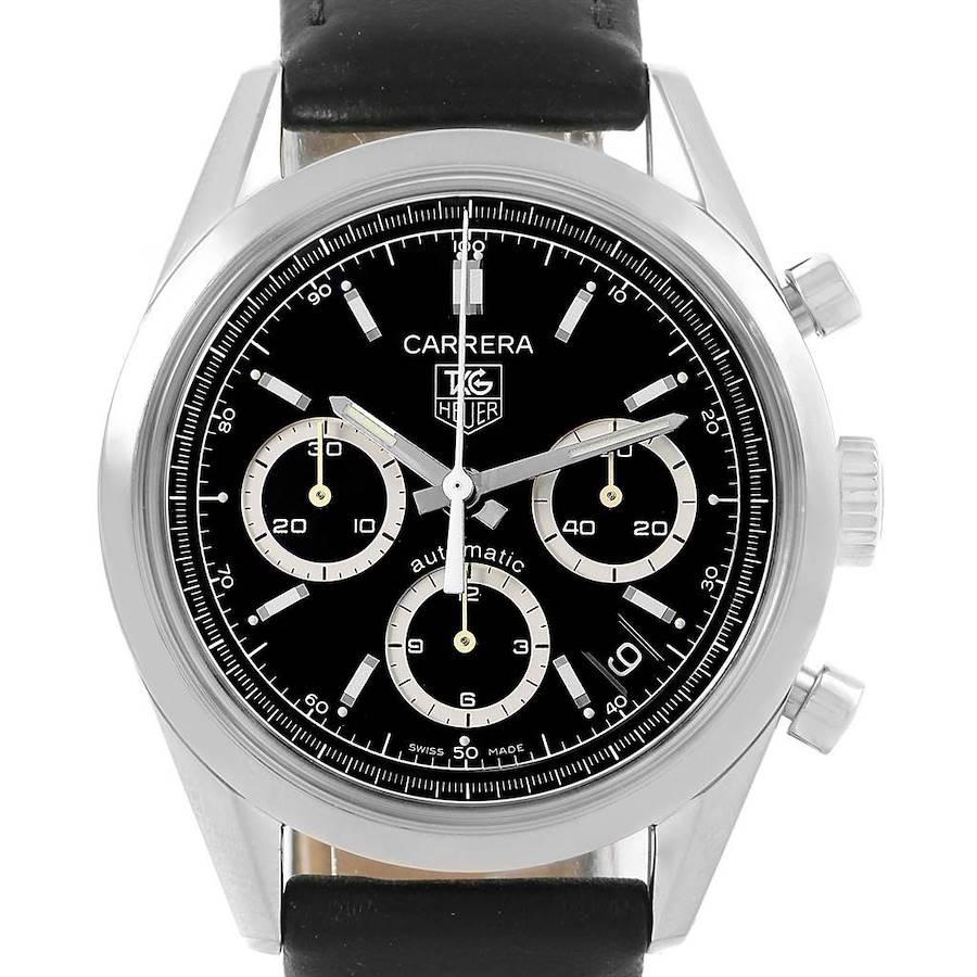 Tag Heuer Carrera Black Dial Chronograph Mens Watch CV2113 SwissWatchExpo